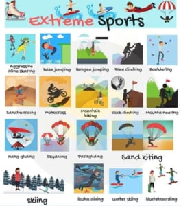 Từ vựng thể thao mạo hiểm tiếng Anh