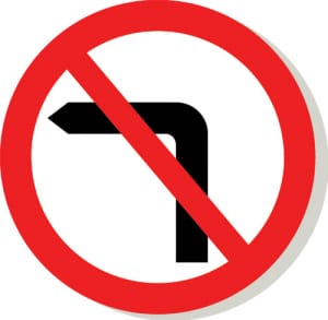 không rẽ trái