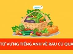 từ vựng tiếng anh về rau củ quả