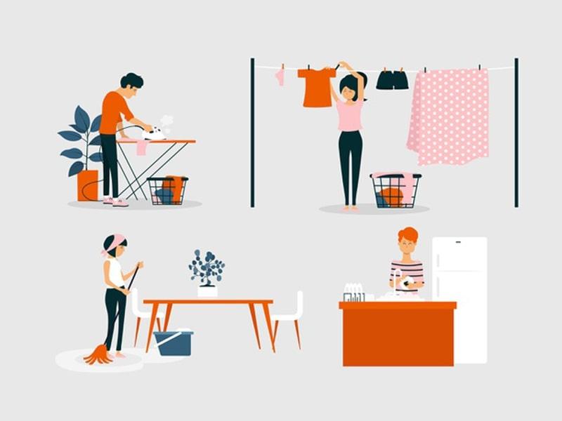 từ vựng về công việc nhà