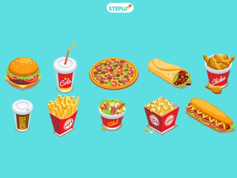 từ vựng tiếng Anh về đồ ăn nhanh