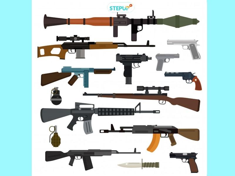 từ vựng vũ khí tiếng Anh