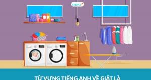 từ vựng tiếng Anh về giặt là