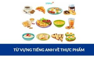 từ vựng tiếng Anh về thực phẩm