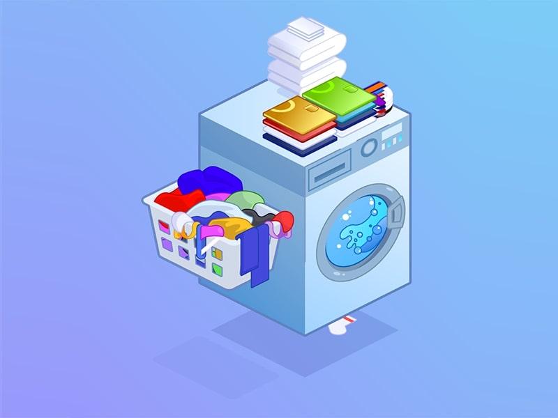 từ vựng về giặt là