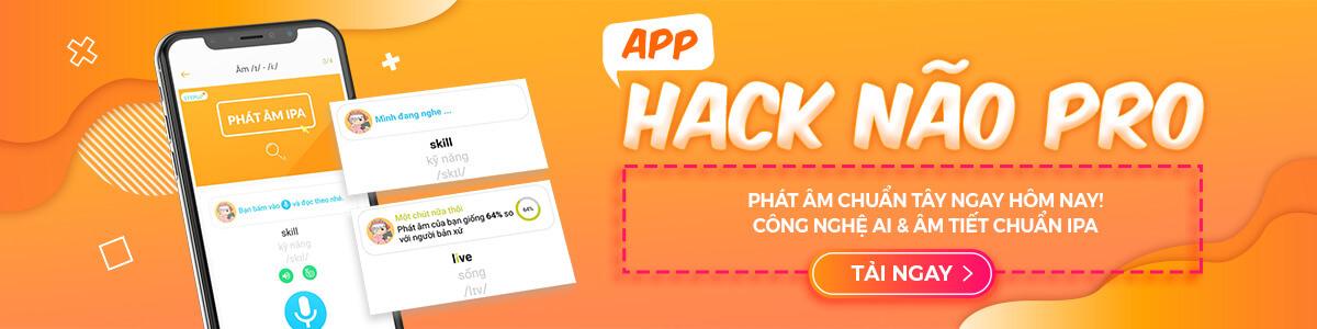App Hack Não Tiếng Anh