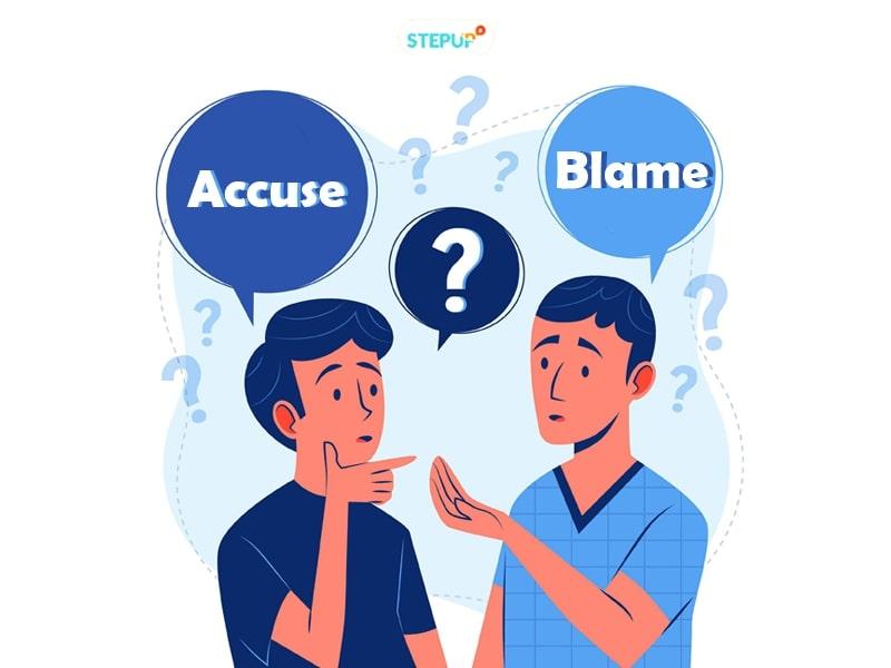 phân biệt accuse và blame